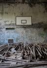 Pripyat community gym basket ball court
